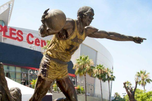 Statue of Magic Johnson at Staples Center