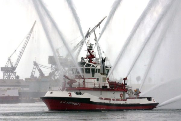 Fire Station 112 Fire Boat in San Pedro, California